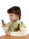 Child with mobile phone. Stock Photos
