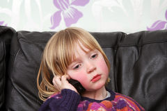 Child mobile phone Royalty Free Stock Images
