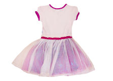 CHILD MODE. Dress with ruffles for the girls which is a very feminine model, more practical, and very fancy for child that can be worn on all the occasions royalty free stock image