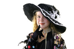 Child modeling a hat Royalty Free Stock Photography
