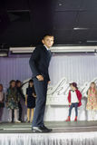 Child models walk the runway Stock Photos