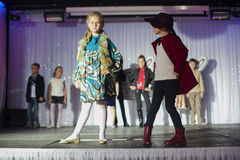 Child models walk the runway Royalty Free Stock Photos