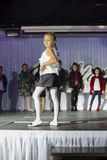 Child models walk the runway on Kengaroo show Royalty Free Stock Image