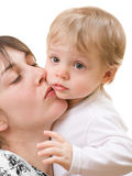 Child with mom Royalty Free Stock Image
