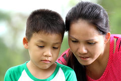 Child and mother Stock Image