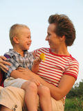 Child and mother love Stock Photography