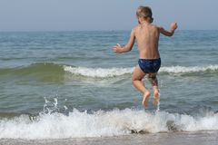 Child in motion Royalty Free Stock Photography