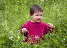 Child in nature Royalty Free Stock Photo