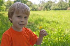 Child on the nature Royalty Free Stock Photo