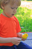 Child and nature Royalty Free Stock Photos