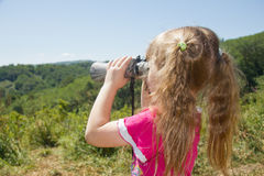 Child and nature. Stock Photography
