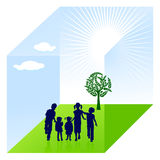 Child nature protection. Caution child Royalty Free Stock Images