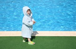 Child near the pool Stock Photography