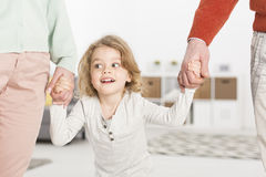 Child always needs support of parents royalty free stock images