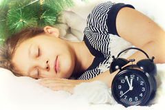 Child and New Year Royalty Free Stock Photo