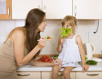 Child with no appetite Royalty Free Stock Photography