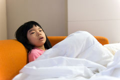 Child not feeling well Stock Photography