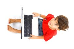 Child with Notebook Royalty Free Stock Images