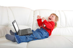 Child with notebook Stock Images