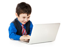 Child with notebook Stock Photography