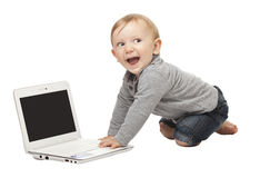 Child with notebook Stock Photos