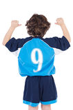 Child with number nine Royalty Free Stock Images