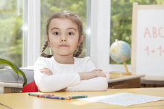 Child in the nursery. Looking at camera Stock Photography