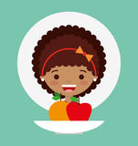 Child nutrition design. Illustration eps10 graphic vector illustration