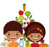 Child nutrition design. Illustration eps10 graphic Stock Photo
