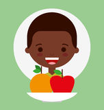 Child nutrition design. Illustration eps10 graphic stock illustration