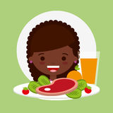 Child nutrition design. Illustration eps10 graphic royalty free illustration