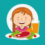 Child nutrition design. Illustration eps10 graphic royalty free illustration