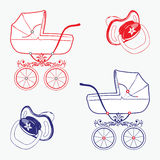 Child objects. Set of child objects isolated on white background. Vector illustration eps.10 Stock Image