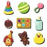 Child objects on white background Stock Photos