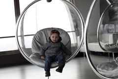 Child in observatory Royalty Free Stock Photos
