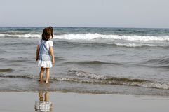 Child and ocean Royalty Free Stock Photography