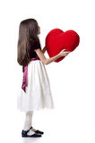 Child offering heart Stock Image
