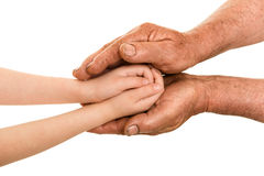 Child and old man hand Royalty Free Stock Photography