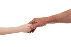 Child and old man hands Royalty Free Stock Photos