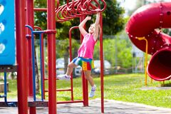 Free Child On Monkey Bars. Kid At School Playground Stock Photography - 172302252