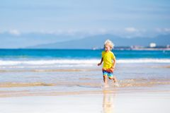 Free Child On Tropical Beach. Sea Vacation With Kids. Royalty Free Stock Photography - 99493117