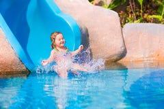 Child On Water Slide