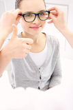 Child an ophthalmologist Royalty Free Stock Photos