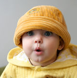 Child in an orange cap Stock Image