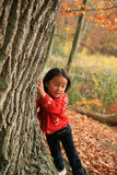 Child outdoor in forest Stock Photos
