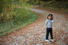 Child outdoor in forest Royalty Free Stock Photography