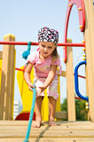 Child on outdoor playground Stock Photo