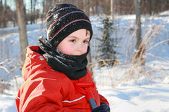 Child outdoor in winter Royalty Free Stock Image
