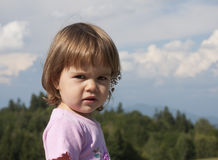 Child outdoors Stock Images