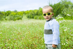 Child outdoors royalty free stock image